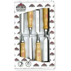 Serie scalpelli Stubai con manico legno