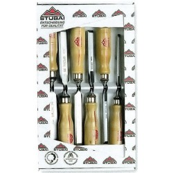 Serie scalpelli Stubai con manico legno 6 pezzi art.3531.06