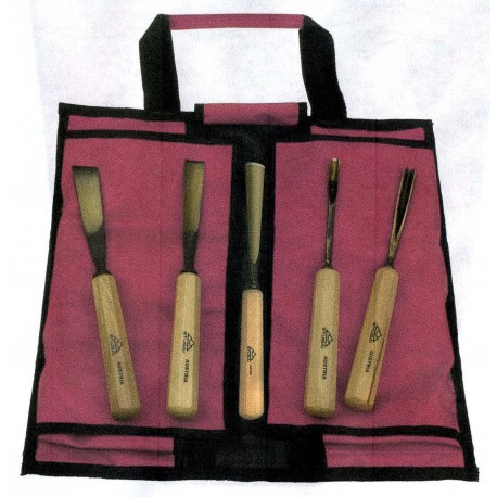 Serie 5 pezzi con borsa avvolgibile